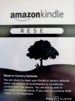 HOWTO: Soft/Hard reset your Kindle 3G w/ keyboard | Kurt's Thoughts