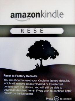 HOWTO: Soft/Hard reset your Kindle 3G w/ keyboard | Kurt's